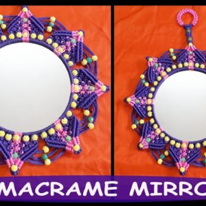 Round Mirror Blue Pink Design